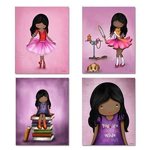 African American Wall Art Posters for Girl's Room