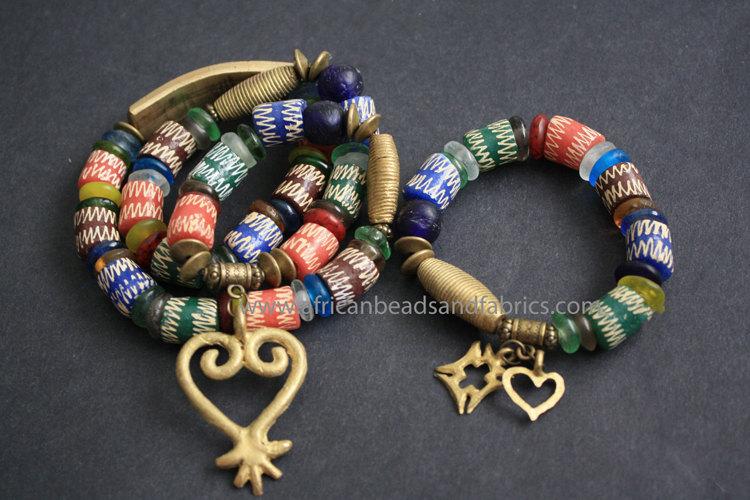 Traditional wedding headpiece & bracelet