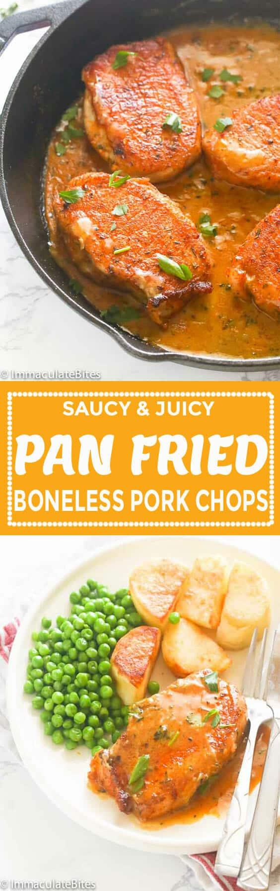 Pan Fried Boneless Pork Chops