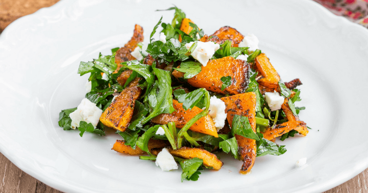 Roasted Pumpkin Salad with Chilli and Yoghurt