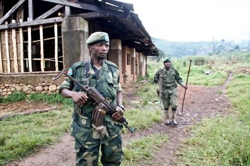'General' Janvier's escorts. Kinyumba, Masisi, September 2013. ALEXIS BOUVY/ Local Voices