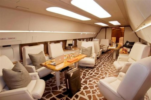 Part of the luxury interior of ZS-PVX.