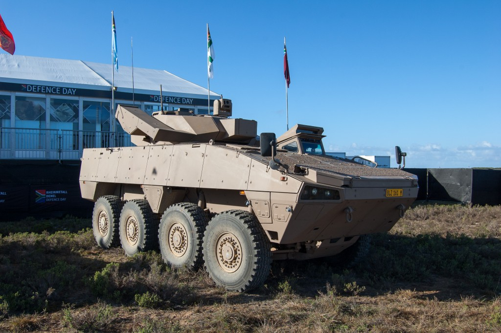 Denel Badger IFV Missile Variant, armed with the Denel Dynamics Ingwe anti-tank guided missile with a maximum range of 5km. ADR/DARREN OLIVIER