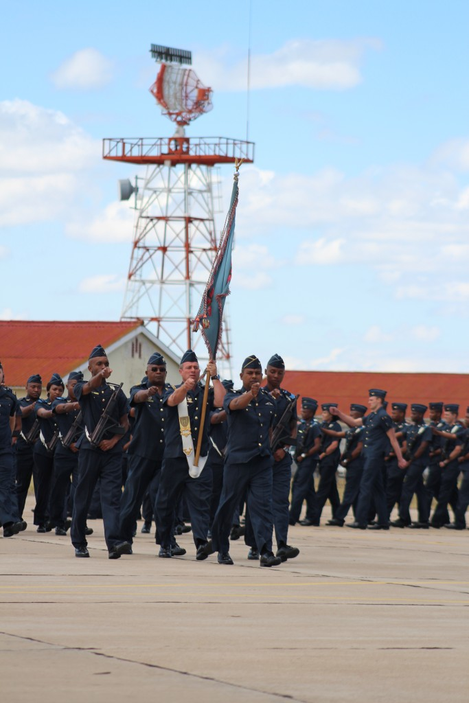 SAAF March past the CSAAF's podium. ADR/JOHN STUPART