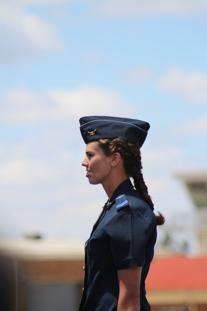 It's not all just pilots. A corporal receives her flight engineer wings. ADR/JOHN STUPART