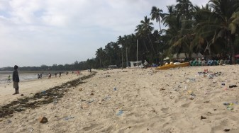 Pirate's Beach - very popular; very beautiful; very polluted over the holidays.