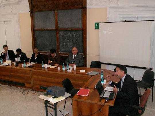 Da sinistra: Minguzzi, Yemane, Fessahazion, Cerchia, Fasulo, Galdieri