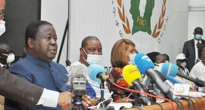Le président Bédié aux Ivoiriens: «Il nous revient d'agir pour protéger l'équilibre de la nation, préserver les droits des citoyens à l'accès à tous les postes électifs…»
