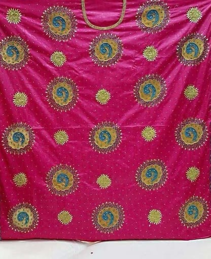 Grand Boubou bazin embroidery with hand work