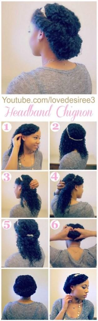 Easy diy natural hair styles 4