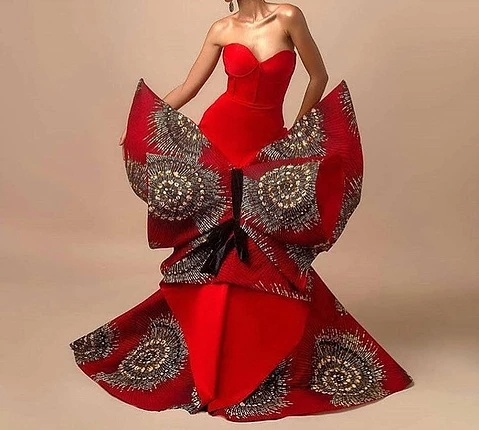 Ankara mermaid gown
