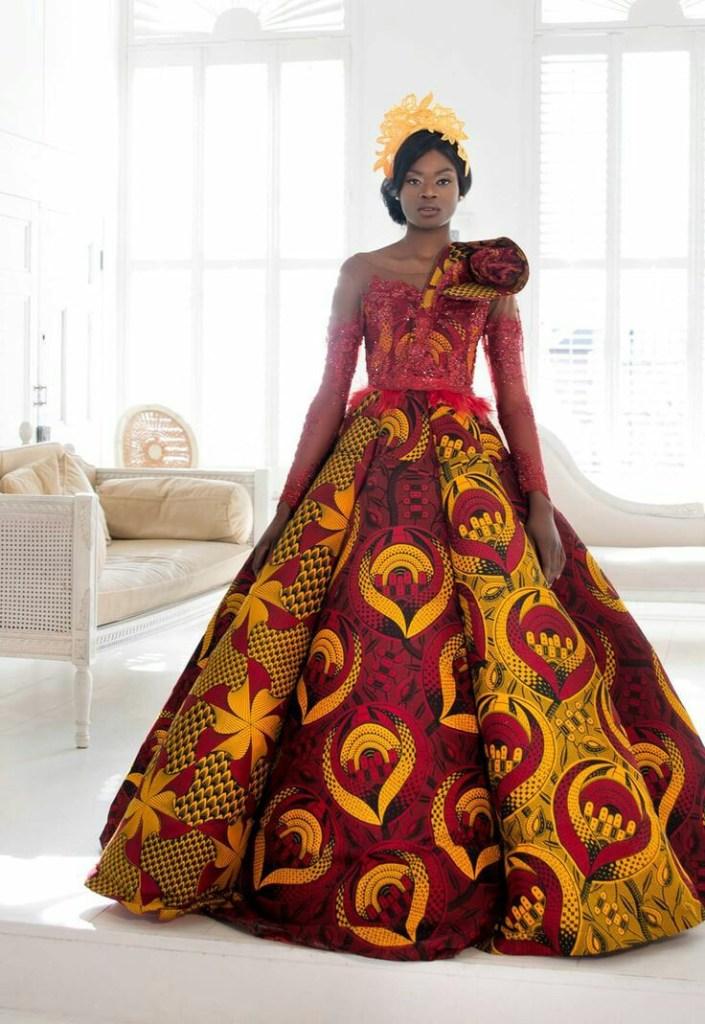 THE BEST ANKARA DRESS STYLES IN 2019 32