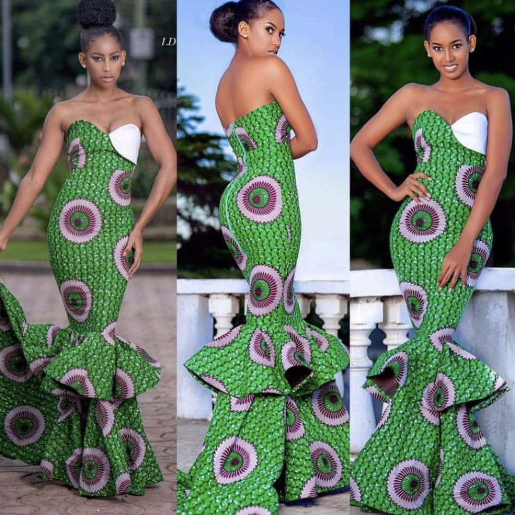 15+ ELEGANT ANKARA MERMAID GOWNS 12