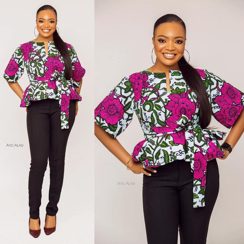 Peplum ankara top