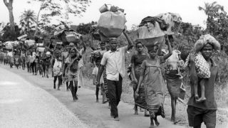 biafran war victims fleeing