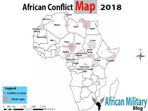 African Conflict Map 2018