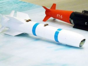 An AR-1 missile and an FT-5 Laser-guided bomb