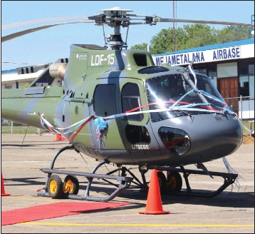 Lesotho LDF commisions new Airbus H125 helicopter