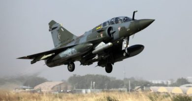 Ludovic Marin, AFP | A French Mirage 2000 aircraft takes off from an airbase in N'Djamena Dec. 2, 2018, in a Barkhane mission in Africa's Sahel region.