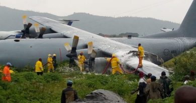 Saaf c-130bz aircraft crash landed in drc