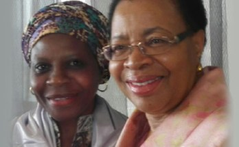 Aishatu Aminu with Mrs Graca Machel: passionate about women entrepreneurship