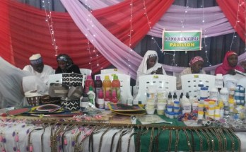 Items produced by the girls on display during the exhibition