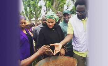 Minister of Environment, Amina Mohammed, during her visit to Shikira community