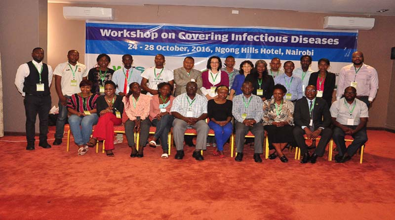 the World Federation of Science Journalists' training on infectious diseases for African journalists