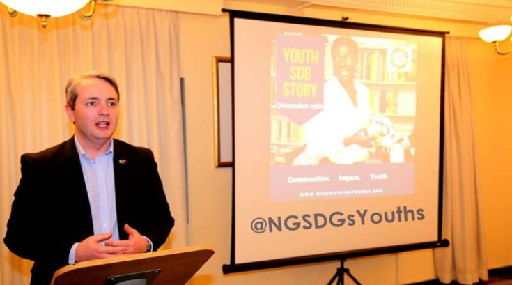 His Excellency Paul Lehmann, Australian High Commissioner in Nigeria welcoming youth participants to the event