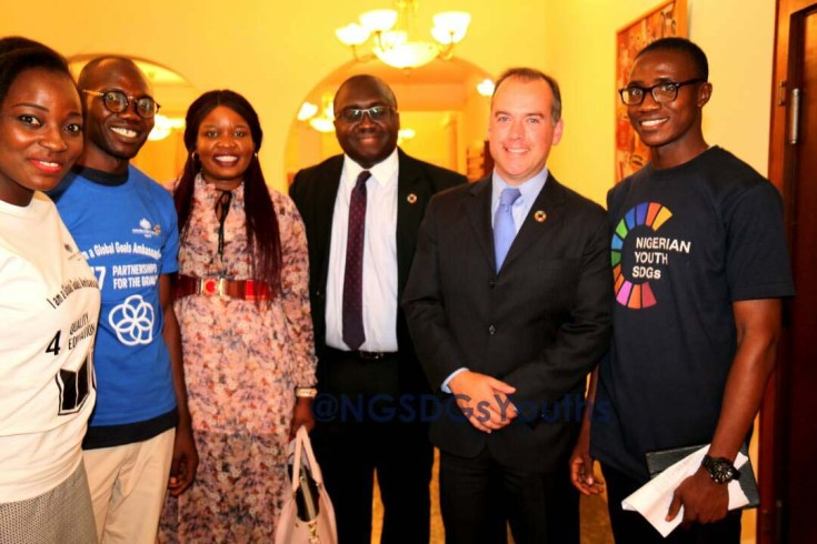 L-R: Uche Arinze, Semiye Michael, Rose Keffas, Hilary Ogbonna, Mitchell Toomey, and Joshua Alade at the event