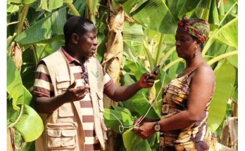 A woman being interviewed by Radio Farm International Photo: Farm Radio