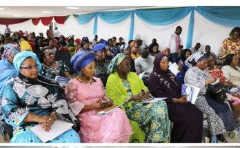 A cross-section of dignataries at the opening ceremony of NFNV Nigerias's maiden Pan African Women Expo held last October in Abuja, Nigeria