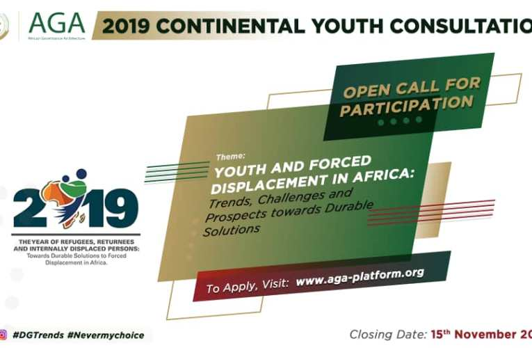 APPLY NOW! Open Call for 2019 AGA Platform Continental Youth Consultations
