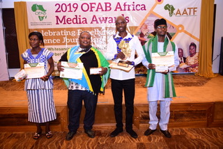 African Newspage reporter wins OFAB Africa media award in Mombasa, Kenya