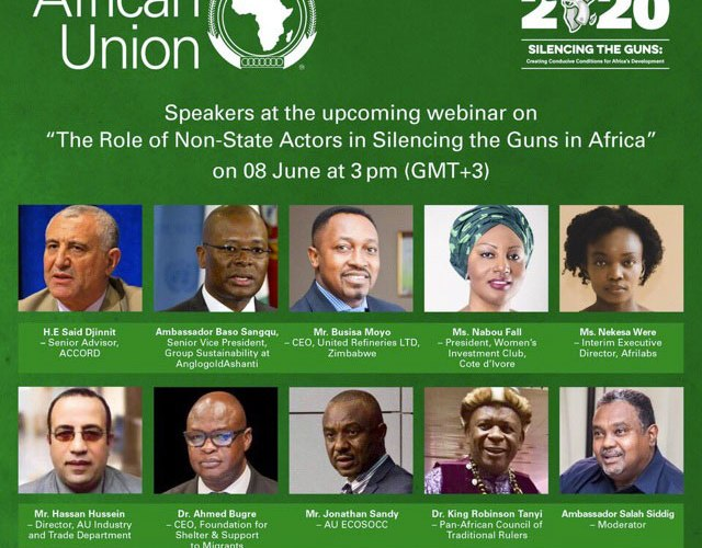 Highpoints of African Union's webinar on non-state actors' role in Silencing The Guns