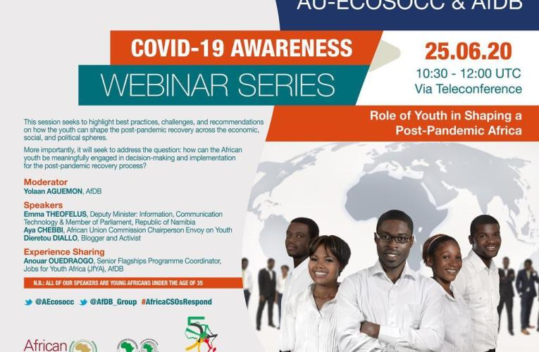 AU ECOSOCC's teleconference highlights youths' strategic position in post-pandemic Africa
