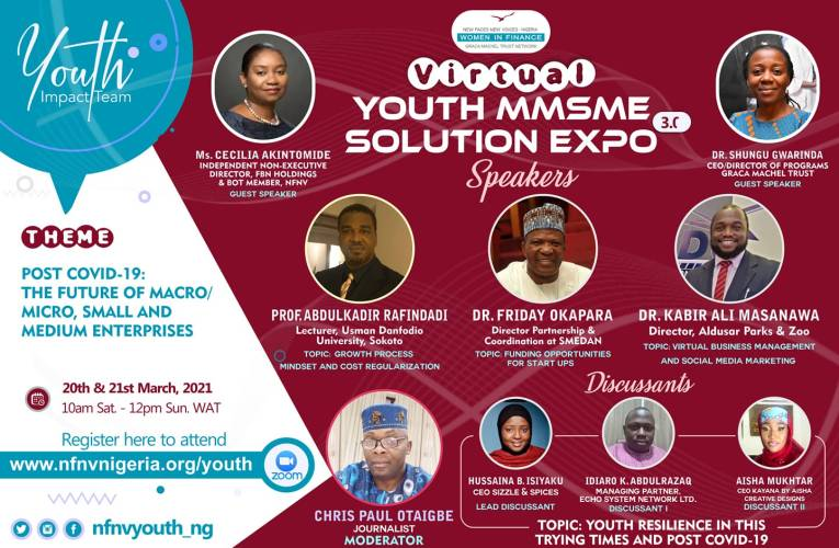 2021 NFNV Nigeria youth expo explores prospects of MSMEs, post-Covid-19