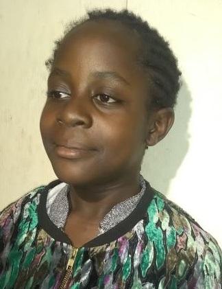 Female Student from school in Kibera