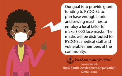 A tailor in Sierra Leone wants to protect his district with face masks, and we plan to help!