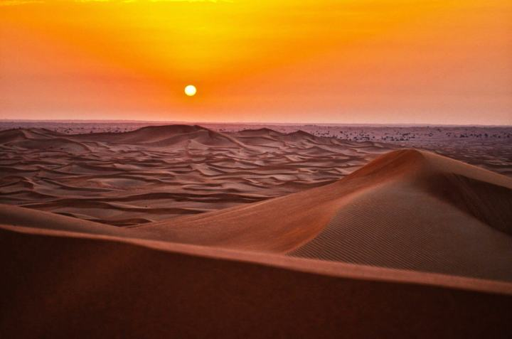 Sunset au Sahara