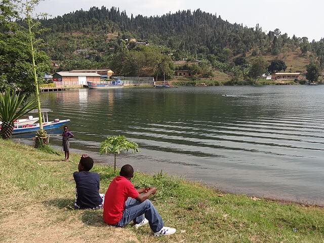 Shore of Lake Kivu Karongi ,Kibuye, Western Rwanda