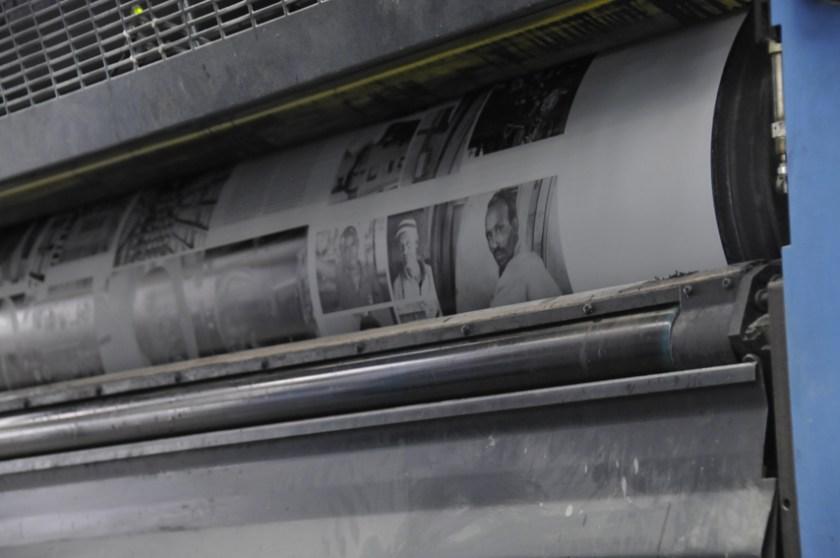 Printing African Train
