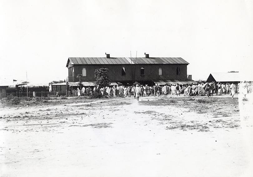 Le premier bâtiment de la gare de Diré-Daoua.