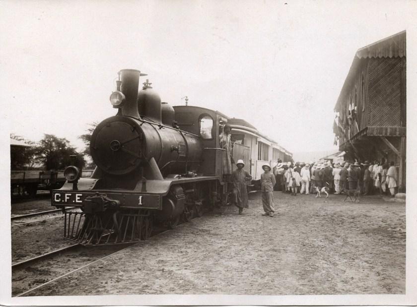 La locomotive 1 en gare de Diré Dawa