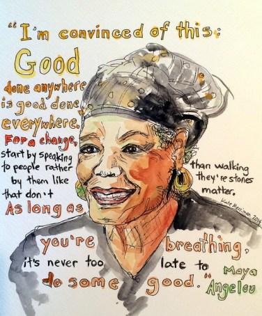 Maya Angelou (by Kate Merriman)