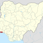 Map of Nigeria Showing Lagos State