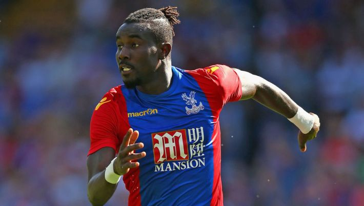 LONDON, ENGLAND - AUGUST 06:  Pape Souare of Crystal Palace in action during the Pre Season Friendly match between Crystal Palace and Valencia at Selhurst Park on August 6, 2016 in London, England.  (Photo by Christopher Lee/Getty Images)