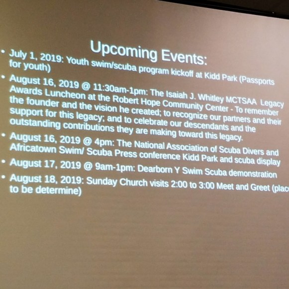 Anderson Flen presents work of the MCTSAA, including upcoming events for August.