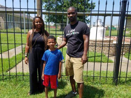 Landscape Architect Sara Zewde with Garrett and his son