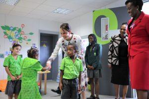 Sylvia Bongo Ondimba et Jeannette Kagamé à l'école Ruban Vert